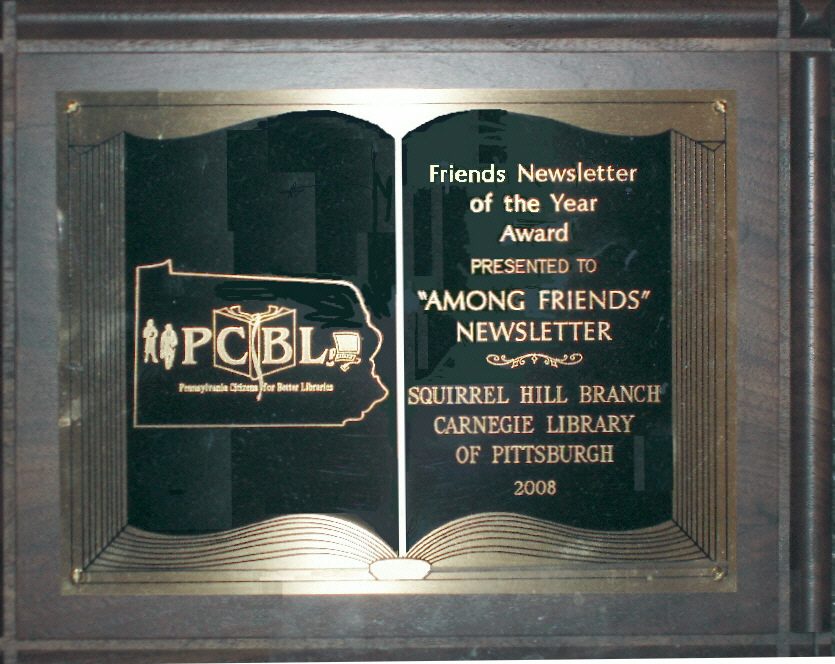 Award from the Pa Citizens for Better Libraries
